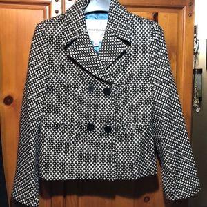 Houndstooth Pea coat. Sz small